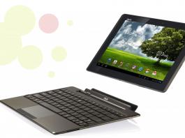 Tablet transformable a noteBook de la marca Asus amb teclat incorporat