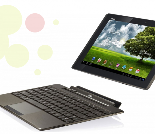 Tablet transformable a noteBook de la marca Asus amb teclat incorporat