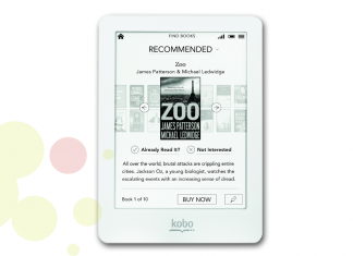 e-Book reader de la marca Kobo model Glo HD