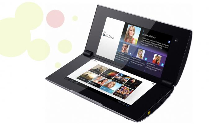 Tablet de la marca Sony amb pantalla doble